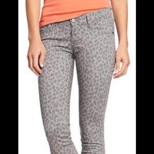 NWOT Old Navy grey leopard print skinny jean